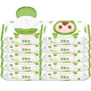 soondoongi 顺顺儿 新生儿系列 儿童湿纸巾 绿色盖装 70抽*10包(22*20cm)