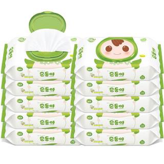soondoongi 顺顺儿 绿色盖装70抽10包 宝宝湿纸巾 绿色盖装70抽10包