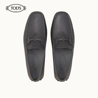 TOD'S 托德斯 男士牛皮豆豆鞋 (棕色、42)