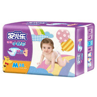 Anerle 安儿乐 薄薄小轻芯 婴儿纸尿裤 M38片 *2件