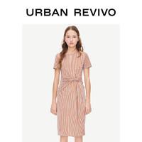 UR2019夏季新品青春女装魅力拼色条纹圆领连衣裙YL13S7ES2003