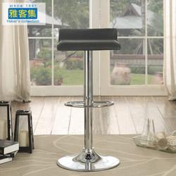 雅客集 吧台椅凳子 餐椅 可升降旋转休闲高脚凳椅子 方凳 *2件