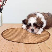 宠物码头 凉席宠物垫子夏季散热垫子夏季降温猫狗窝垫狗狗用品 水波纹35*45cm