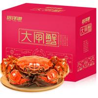 京东PLUS会员 : 远洋港 大闸蟹礼券礼品卡螃蟹礼盒 海鲜水产 3666型公4.5两 母3.5两 10只装