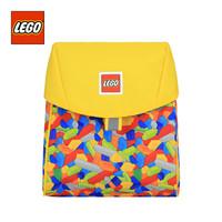LEGO乐高 儿童小背包3-5岁宝宝双肩包幼儿园休闲翻盖书包轻便男女 黄色 20126