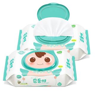 soondoongi 顺顺儿 新生儿实惠系列 婴儿湿巾 80抽*10包