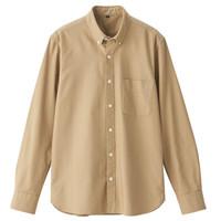 MUJI 无印良品 M9SC542 男式纽扣领衬衫