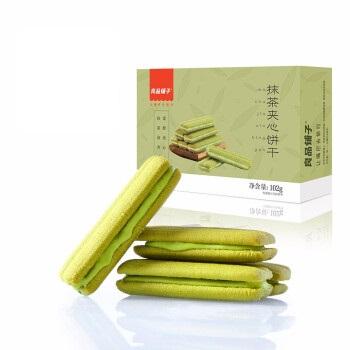 liangpinpuzi 良品铺子 曲奇饼干   抹茶夹心饼干 102g      6932588582996