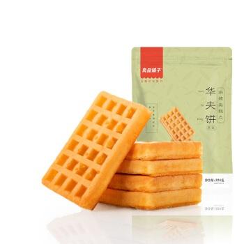 liangpinpuzi 良品铺子 华夫饼西式小面包   224g  奶香味