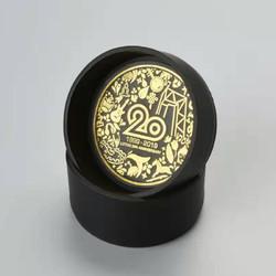 lotoo 乐图20周年纪念版耳机盒 小牛皮材质 硬壳耳机数据线收纳盒