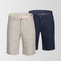 PROEASE亚麻透气休闲短裤
