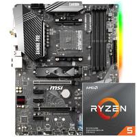 AMD Ryzen 5 3600 CPU处理器 + 微星 B450M PRO-M2-V2 主板 套装