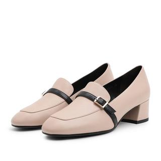 BeLLE 百丽 BZ920AM9 女士牛皮粗中跟单鞋