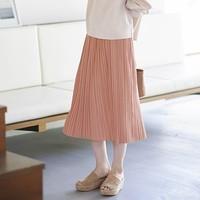 UNIQLO 优衣库 422690 女士打褶针织长裙