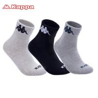 Kappa 背靠背 休闲运动棉袜 3双装 *3件