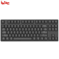ikbc W200 机械键盘 2.4G无线 游戏键盘 87键 原厂cherry轴 樱桃轴 吃鸡神器 无线机械键盘 黑色 静音红轴