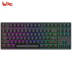 ikbc F87RGB  87键  机械键盘 有线键盘 RGB背光 cherry轴 黑色 银轴