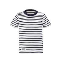 MITOWNLIFE 儿童全棉条纹短袖T恤 蓝条 130/64 1件/袋