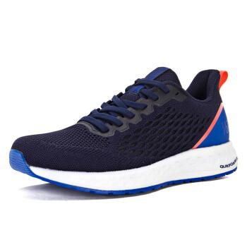 361° 锋熠 男子防滑跑步鞋 (黑影蓝/荧光热情珊瑚粉、42)