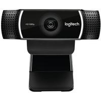 Logitech 罗技 C922 高清直播主播摄像头美颜台式电脑网络摄像头 (黑色、1080P)