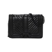 REBECCA MINKOFF CHEVRON QUILTED SMALL LOVE 女士斜挎包
