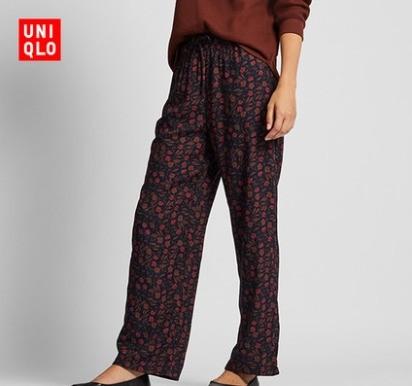 UNIQLO 优衣库 420105 花式起居直筒裤