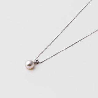 银联专享 : Maria 8.5mm Akoya珍珠吊坠 S925银质项链