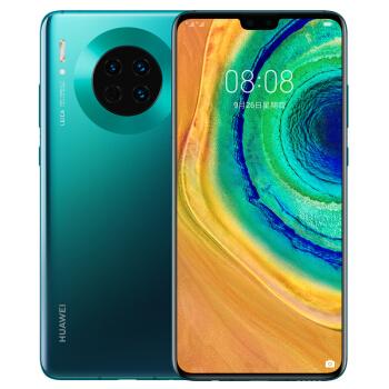 华为 HUAWEI Mate 30 智能手机 (8G、128GB、全网通、翡冷翠)