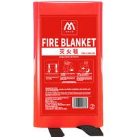 京东PLUS会员 : 名典上品 灭火毯 火灾灭火器搭配用 车用家用玻璃纤维应急毯 M-FD1 1.5m*1.5m *8件
