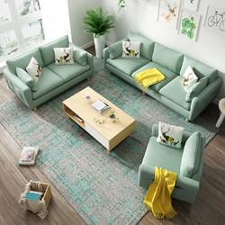 小户型布艺沙发可拆洗实木框架3人位乳胶款