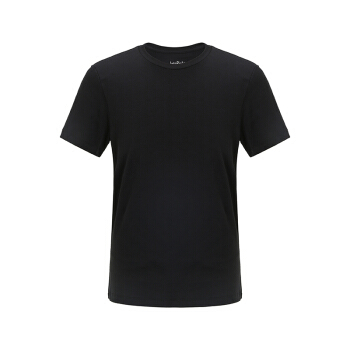 InteRight 水柔棉男士短袖T恤 (黑色、L)