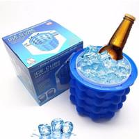 kavar 米良品 蓝色硅胶制冰桶 13*13*14cm
