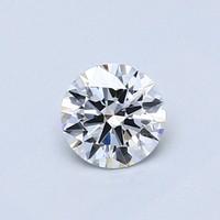 Blue Nile 0.50克拉 圆形切割钻石(切工EX,成色D,净度IF)