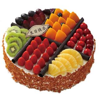 津津悦 水果巧克力双层蛋糕    甜蜜时光8寸