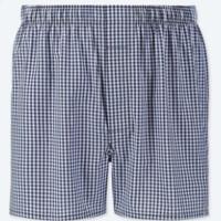 UNIQLO 优衣库 UQ415012000 男装平脚短裤 (藏青色、165/72A/S、棉100%)