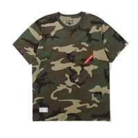 izzue ARMY系列 口袋缝饰迷彩T恤