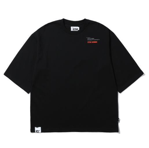 izzue HOMME 男士印花T恤 (黑色、2)
