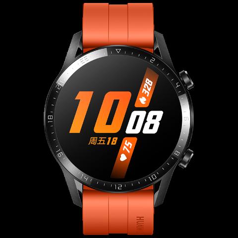 华为 HUAWEI WATCH GT 2 智能手表 (赤霞橙、运动版)