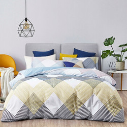 60支暖绒超柔四件套纯棉床单 全棉磨毛被套 高支全棉床品 1.5M/1.8M床通用-简时光
