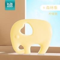 可优比(KUB) 婴儿牙胶磨牙棒宝宝0-6-12个月咬咬玩具球硅胶软可水煮大象黄色