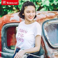 探路者 TAJG82939 女式速干透气印花短袖T恤