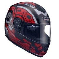 坦克(Tanked Racing)摩托车头盔电动车安全帽可拆卸围脖单镜片T159 黑色墨菲 XL码