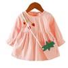 拥抱熊 女童小草莓连衣裙