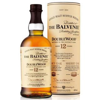 The Balvenie 百富 12年双桶苏格兰达夫镇单一麦芽威士忌 700ml *2件