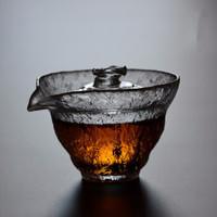 kavar 米良品 家用锤目纹耐热玻璃盖碗 180ml