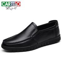 卡帝乐鳄鱼 CARTELO 男士透气牛皮休闲皮鞋