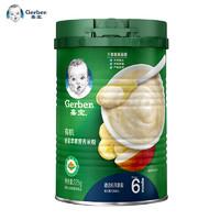 嘉宝有机香蕉苹果营养米粉加量装225g罐装2阶段 *2件