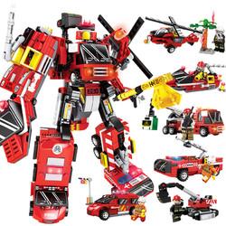 新森宝 兼容乐高积木拼装玩具变形机器人模型金刚男孩益智智力塑料6-14岁 积变烈霸整套六盒