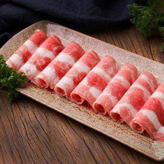 首食惠 澳洲谷饲雪花肥牛卷500g/袋 火锅食材 新鲜肥牛片 烧烤食材