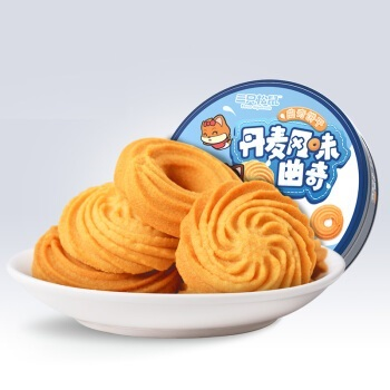 Three Squirrels 三只松鼠 曲奇饼   100g/盒